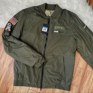 NFL Eagles Salute To Service Bomber Jacket